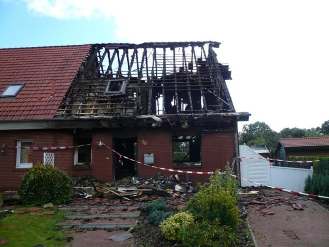 Brandschaden durch technischen Defekt, Landkreis Lüneburg, Hausratschaden ca. EUR 100.000,-